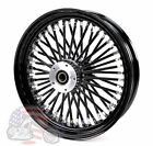 Black Out 16 X 35 48 Fat King Spoke Rear Wheel Rim Harley Touring Softail