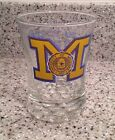 1965 MICHIGAN Football ROSE BOWL CHAMPS Official Team Souvenir WHISKEY GLASS
