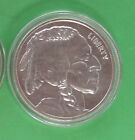 NICE 1 - Ounce, .999 Fine Silver round in Indianhead & Buffalo design