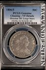 1806/5 DRAPED BUST HALF DOLLAR- PCGS- VERY FINE DETAILS!! OVERTON-101!! #SL9420