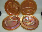 Federal Glass Lot of 7 Carnival Normandie Divided Grill Plates VGC