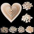 Wooden Love Heart Shapes Craft Shapes Large  Small Wood Embellishments 10 80mm