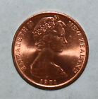 New Zealand 1 Cent 1971 Brilliant Uncirculated Coin - Silver Fern Leaf