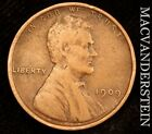 1909 V.D.B LINCOLN WHEAT CENT - SEMI-KEY!!  BETTER DATE!!  SCARCE!!  #U1053