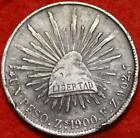1900 Mexico Peso Silver Foreign Coin Free S/H