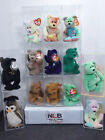 Lot of 13 Ty Beanie Babies CURLY, FUZZ, KICKS, ERIN, PEACE + MORE