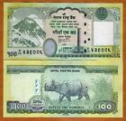Nepal, 100 Rupees, 2012 (2013), P-New, UNC Everest, Rhino, Buddha overprint
