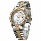 YVES CAMANI Tiberius Ladies Watch Gold Plated Stainless Steel Mother Of Pearl
