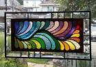 A FINE FEATHERED COLLECTION Stained Glass Window Panel Signed and Dated