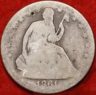 1861-O New Orleans Mint Silver Seated Half Dollar Free Shipping