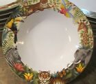 SET 4 SAKURA STEPHANIE STOUFFER JUNGLE ANIMALS SOUP BOWLS