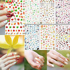 Maple Leaf Flower Butterfly Manicure Nail Art Decal Stickers Tips Decoration BE