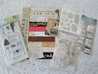 Wedding Marriage Lot Scrapbook Paper Stickers Die Cut Shapes Stamp Set NEW