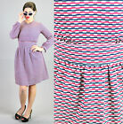 VTG 60s MOD GOGO Scooter Space Age TWIGGY Dolly Poly dress sz S ABSTRACT