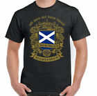 Men Are Born Equal Scottish Mens T-Shirt Flag Scotland Football St Andrews Day