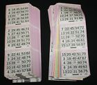 BINGO PAPER Cards sheets 3 on 10 Purple Bdr 50 packs FREE SHIP