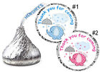 BLUE ELEPHANT OR PINK ELEPHANT BABY SHOWER FAVORS HERSHEY KISS KISSES LABE