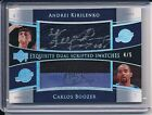 CARLOS BOOZER KIRILENKO 2004-05 EXQUISITE COLLECTION SCRIPTED PATCH AUTO 5 !