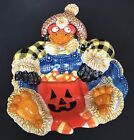 Fitz and Floyd Essentials Scare Crow Halloween Dish Plate Jack-O-Lantern Candy