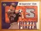 MIKE PIAZZA 2002 UD SUPERSTAR SLAM GAME USED JERSEY PATCH NY METS LA DODGERS HOF