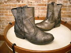 Charles David Dapper Pewter Metallic Leather Ankle Boot NEW