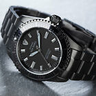 DETOMASO San Remo Mens Diving Watch Black Automatic Stainless Steel 990 ft New
