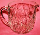 Vintage Collectible Anchor Hocking Bead and Bar Crystal 20 oz Cream Pitcher Wow!