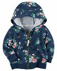 Carters Infant Girls Navy Floral French Terry Hoodie NWT layering jacket