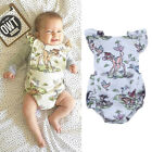 NEW Infant Baby Boy Girl Summer Deer Romper Bodysuit Jumpsuit Clothes Outfits US