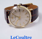 Solid 14k JAEGER LeCOULTRE Winding Mens Watch 1960s Cal.830/CW * EXLNT* SERVICED