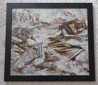 BARBARA SHILO PAINTING GERMAN EXPRESSIONISM ABSTRACT LANDSCAPE 1961 MODERNISM