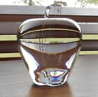 Signed Steuben American Art Glass Crystal Apple Paperweight Over 4