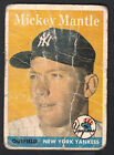 Mickey Mantle 1958 Topps Card #150 POOR Condition