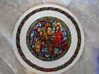 Collectible PORCELAINE DE LIMOGES Numbered Stained Glass Madonna Plate France