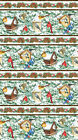 Winter Birds Border Stripes Northcott Quilt Fabric by the 1 2 yard