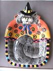FITZ & FLOYD ESSENTIALS HALLOWEEN KITTY WITCHES CAT SNACK TRAY CANDY DISH PLATE