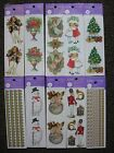 Big Lot 10 PACKS Gifted Line Stickers Flowers Angels Christmas Borders Snowman