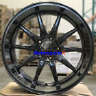 XXR 527D Wheels 20 Chromium Black Rims Staggered 5x1143 Fit 96 Nissan 300zx TT
