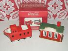 NEW Coca-Cola Earthenware by Sakura Train Creamer & Train Station Sugar Dish