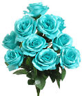 12 Open Roses MANY COLORS Bridal Bouquets Centerpieces Silk Wedding Flowers