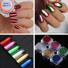 Nail Mirror Powder Red Silver Manicure Nail Art Chrome Pigment Glitter Dust DIY