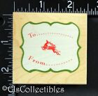 Christmas To  From Tag  All Night Media Rubber Stamp 7724