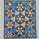 SNOWFLAKES QUILT PATTERN CHRISTMAS HEXAGON BLOCKS PAPER FOUNDATION PIECING EASY