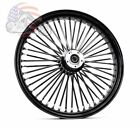 Ultima 48 King Spoke Fat 26 35 Front Wheel Rim Harley Touring Dual Disk Black