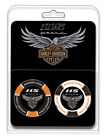 Harley Davidson 115th Anniversary Collector 2pc Poker Chips Limited Edition 678D