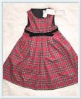 NWT Florence Eisman Red Plaid Holiday Christmas Dress Velvet Bow Size 5 CUTE
