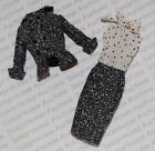 NEW Barbie Silkstone Black & White Tweed Suit Doll Dress & Jacket Outfit Loose