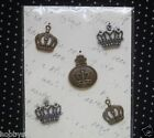 Metal Charms Embellishments Paper Crafts Scrapbooking Cards Crowns HS9