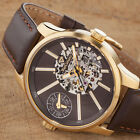 YVES CAMANI Taravo Mens Wrist Watch Dual Time Automatic Gold Stainles