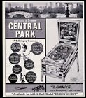1966 Gottlieb Central Park pinball machine photo vintage trade print ad